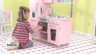 KidKraft 53179 Roze Retro Kinderkeuken - Sprookjessalon