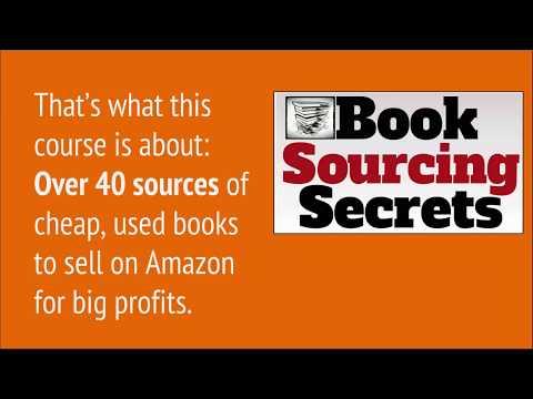 Book Sourcing Secrets - Amazon bookseller video course