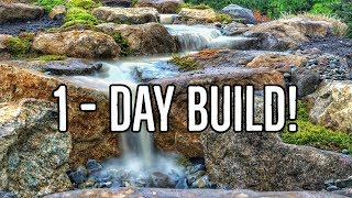 Gambar cover ONE DAY Pondless WATERFALL | PATIO FALLS