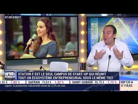 Xavier Niel Sur  BFM BUSINESS inauguration Station F