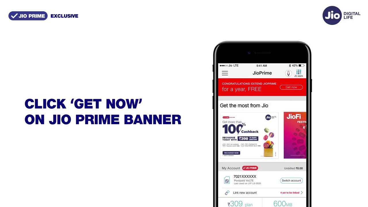 Jio prime extension by mobile trailer