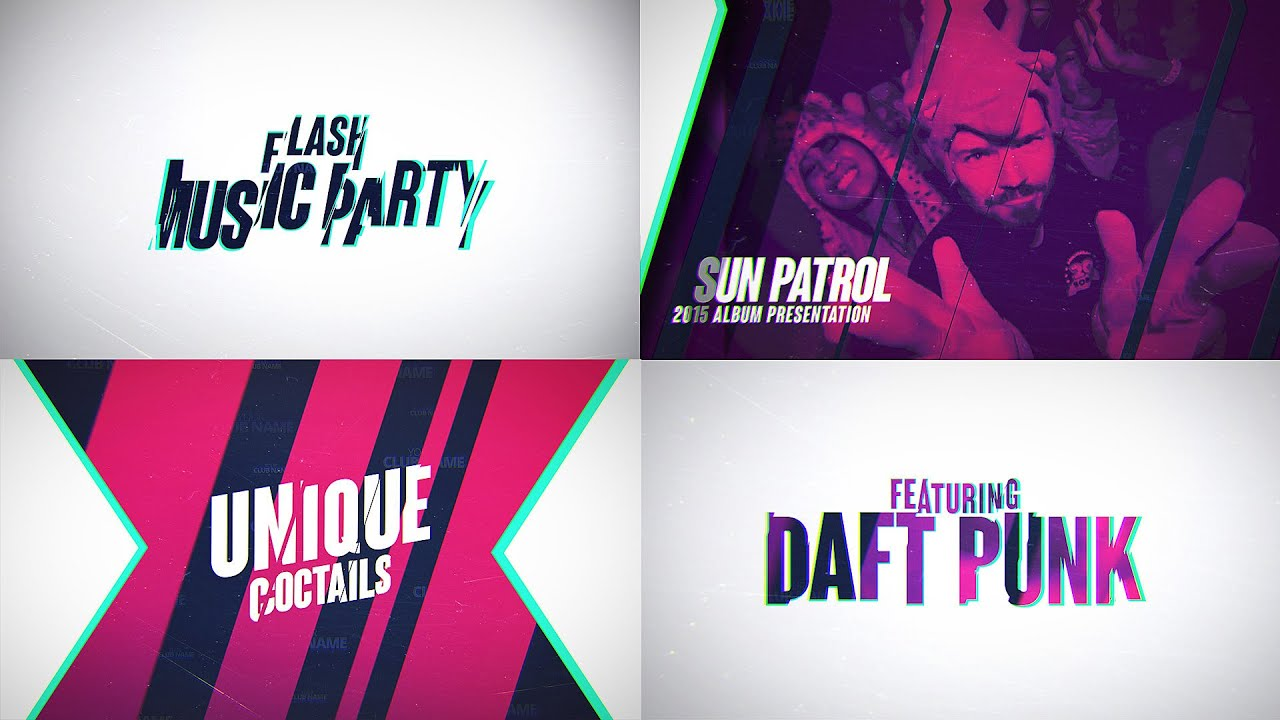 flash music party template (ae) - youtube, Presentation templates