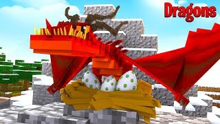 SAVING THE MONSTROUS NIGHTMARES FROM THE FIRE NATION - Minecraft Dragons
