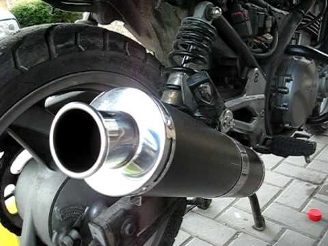 Kawasaki Er5 Ferro Exhaust Sound Youtube
