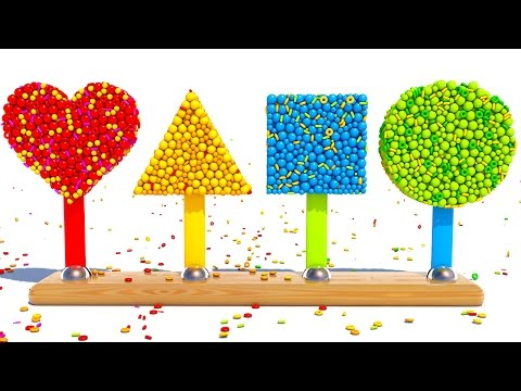 Thumbnail: Learning Shapes and Colors With 3D Popsicle for Kids and Children Toddlers