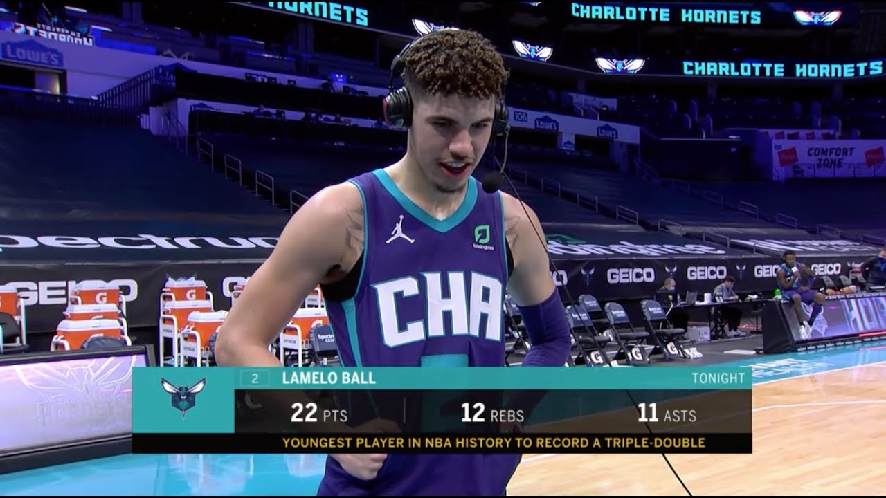 LaMelo Ball Reacts To Becoming The Youngest Player In NBA History To Post Triple-Double – Bleacher Report