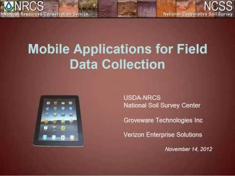 Webinar - New Data Collection Apps for Mobile Devices (11/2012)