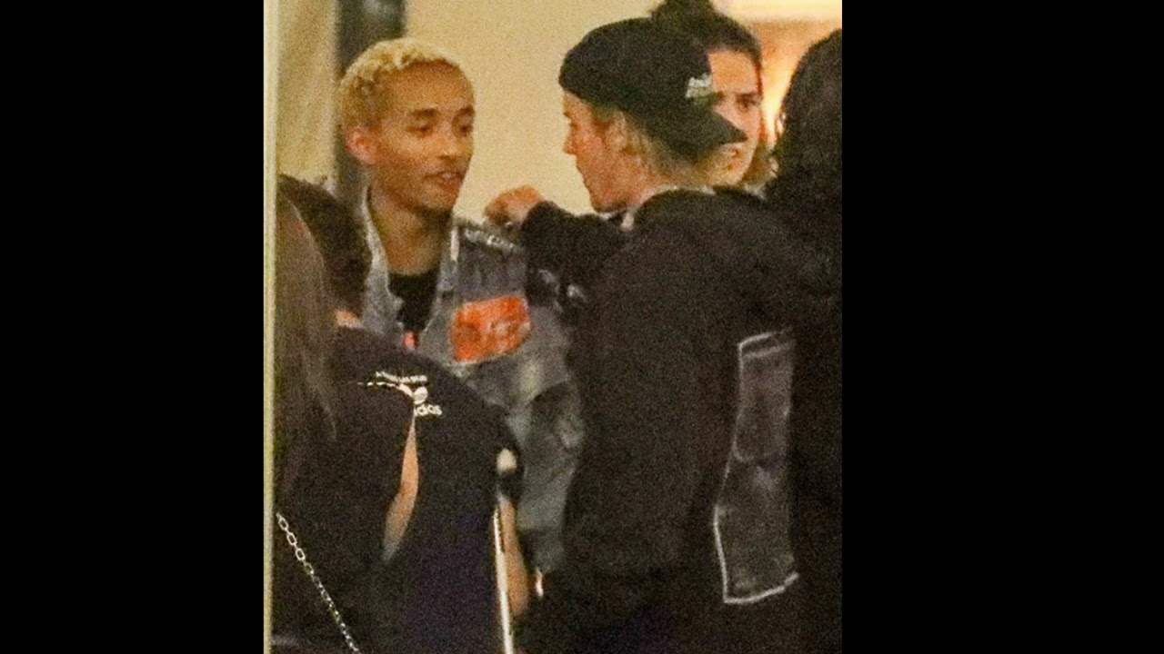 ad356fb10 Justin and Jaden Smith at Gratitude Cafe in Beverly Hills ...