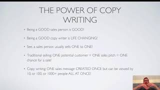 COPYWRITING FOR BEGINNERS COURSE - PART 1 - Introduction (free) by Matt Webley