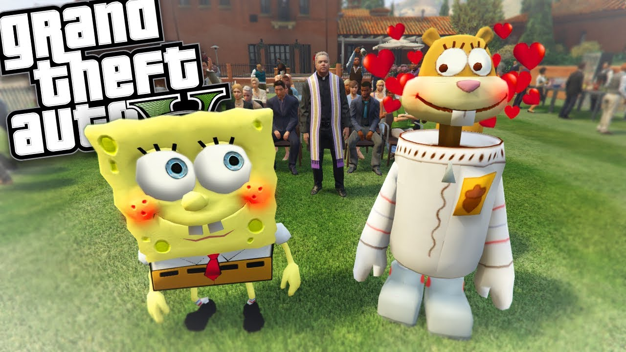 spongebob-gets-married-to-sandy-mod-gta-5-pc-mods-gameplay