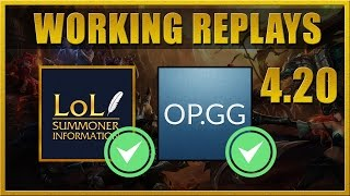 Working League of Legends (LOL) Replays in Patch 4.20 (1000 subs thank you video)