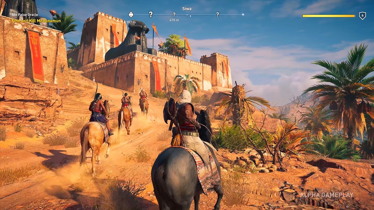 Assassin S Creed Origins Gameplay Xbox One X 4k Youtube