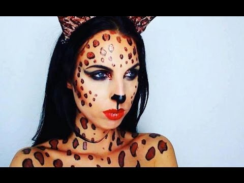 Leopard Make Up Tutorial Karneval Fasching Carnival Youtube