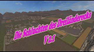 """[""""Die Schluchten des Dreiländerecks"""", """"Map Vorstellung Farming Simulator Ls17:Die Schluchten des Dreiländerecks""""]"""