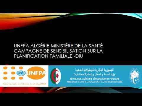 UNFPA Algérie-Ministère de la Santé campagne de sensibilisation sur la planification familiale -DIU