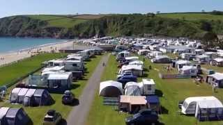 Pentewan Sands Holiday Park in Cornwall - From Above