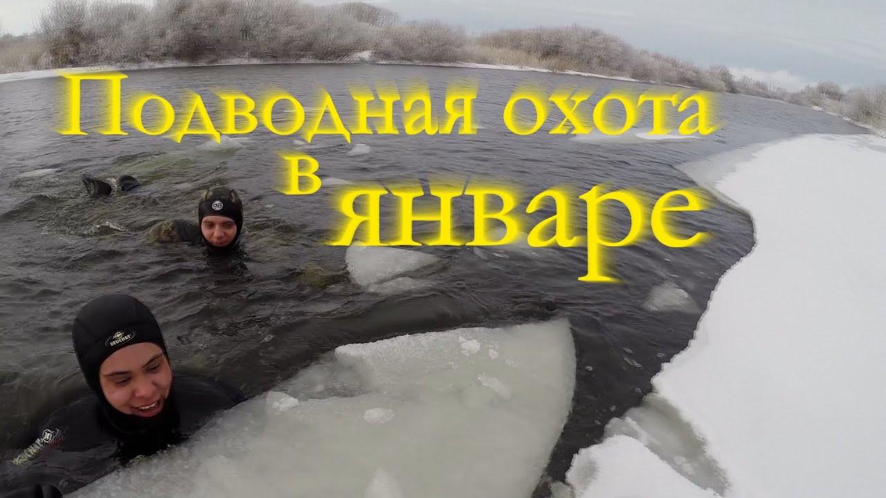 Подводная охота зимой в январе (первый в жизни судак)