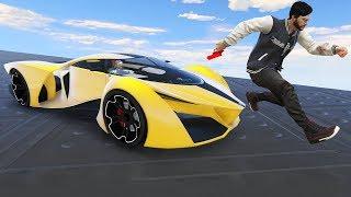 【DE JuN】GTA 5 - 超級跑車 VS 跑酷高手 ( 歡樂時刻 )
