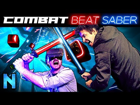 Beat Saber, but Someone Fights you With a Real Sword!