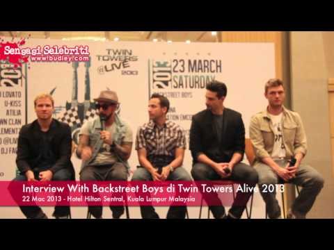 Interview With Backstreet Boys Concert Twin Towers Alive 2013