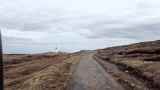 The approach to Cape Wrath lighthouse