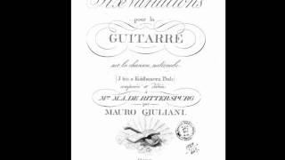 "Play Variations (6) On ""Ich Bin A Kohlbauern Bub"", For Guitar, Op. 49"