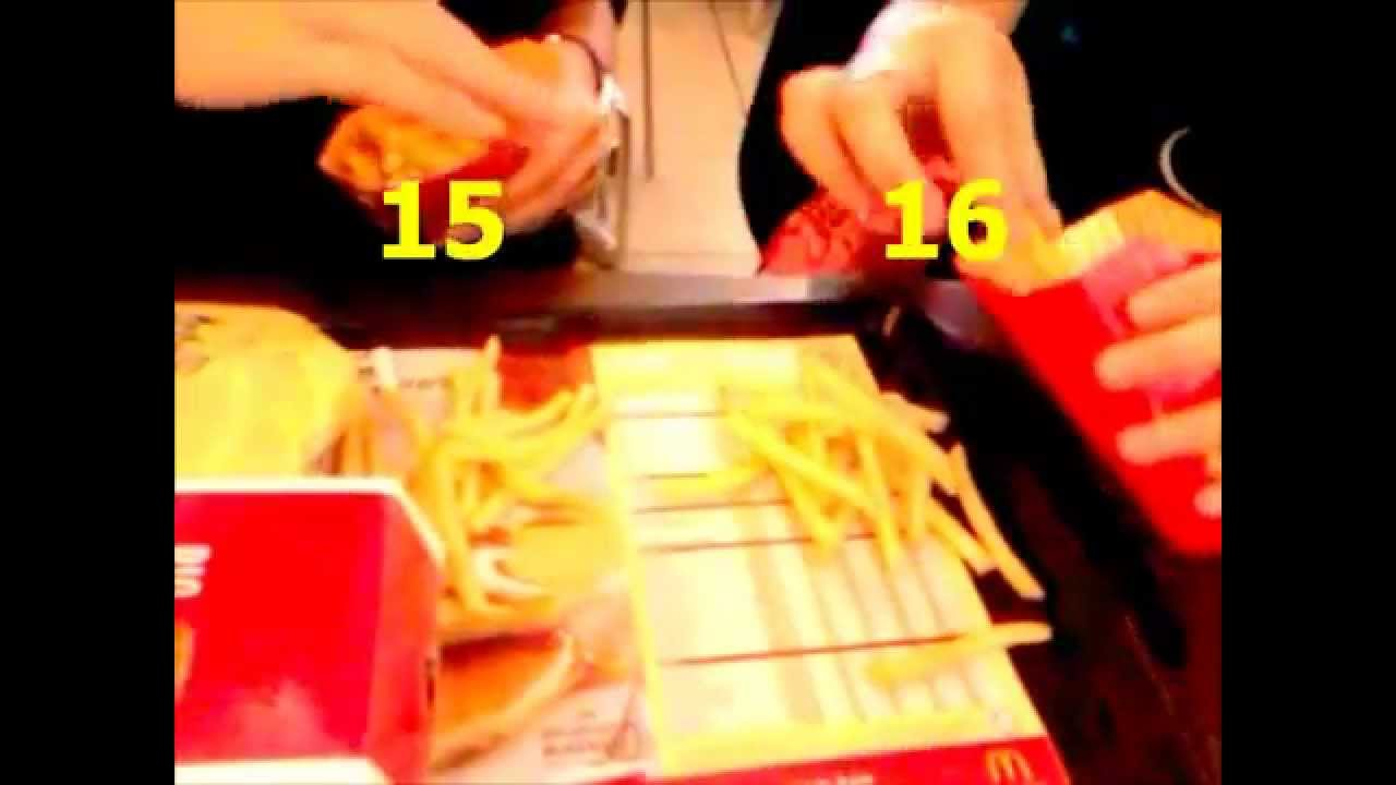 the difference between large and medium fries youtube