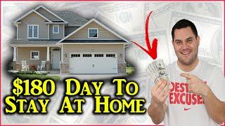 Make $180 Per Day To Stay Home (Quarantine Income)