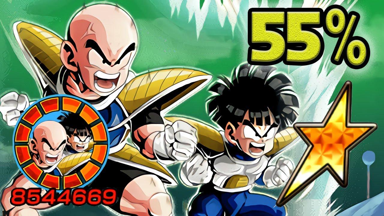 NO DUPES! 55% LR KRILLIN & GOHAN [LEVEL 10 LINKS] Dragon Ball Z Dokkan Battle