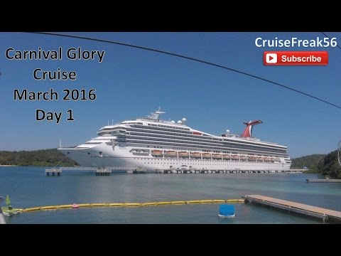 Carnival Glory Cruise March 2016 Day 1