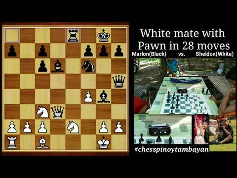 White Mate With Pawn In 28 Moves