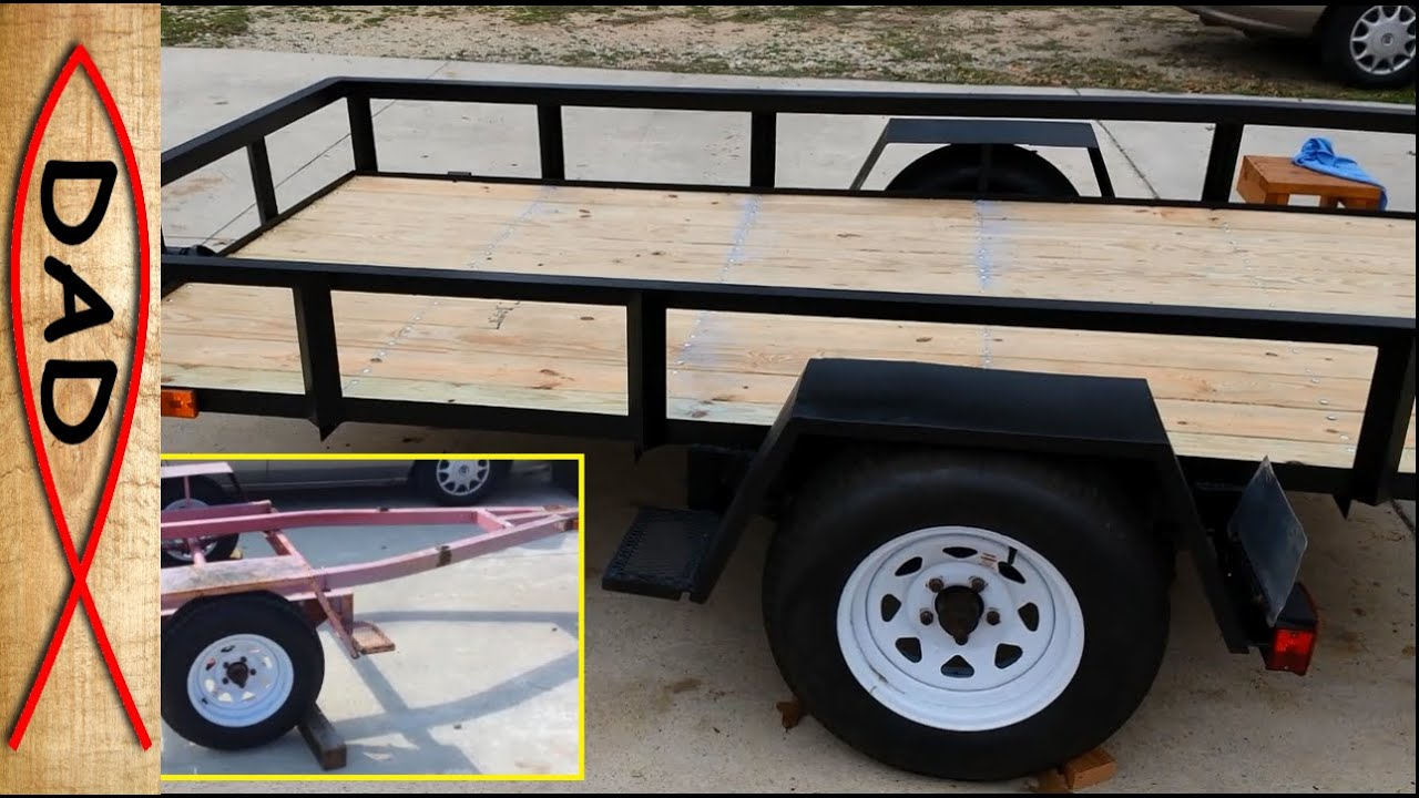5x10 Utility Trailer Build - Part 1 of 4 - YouTube