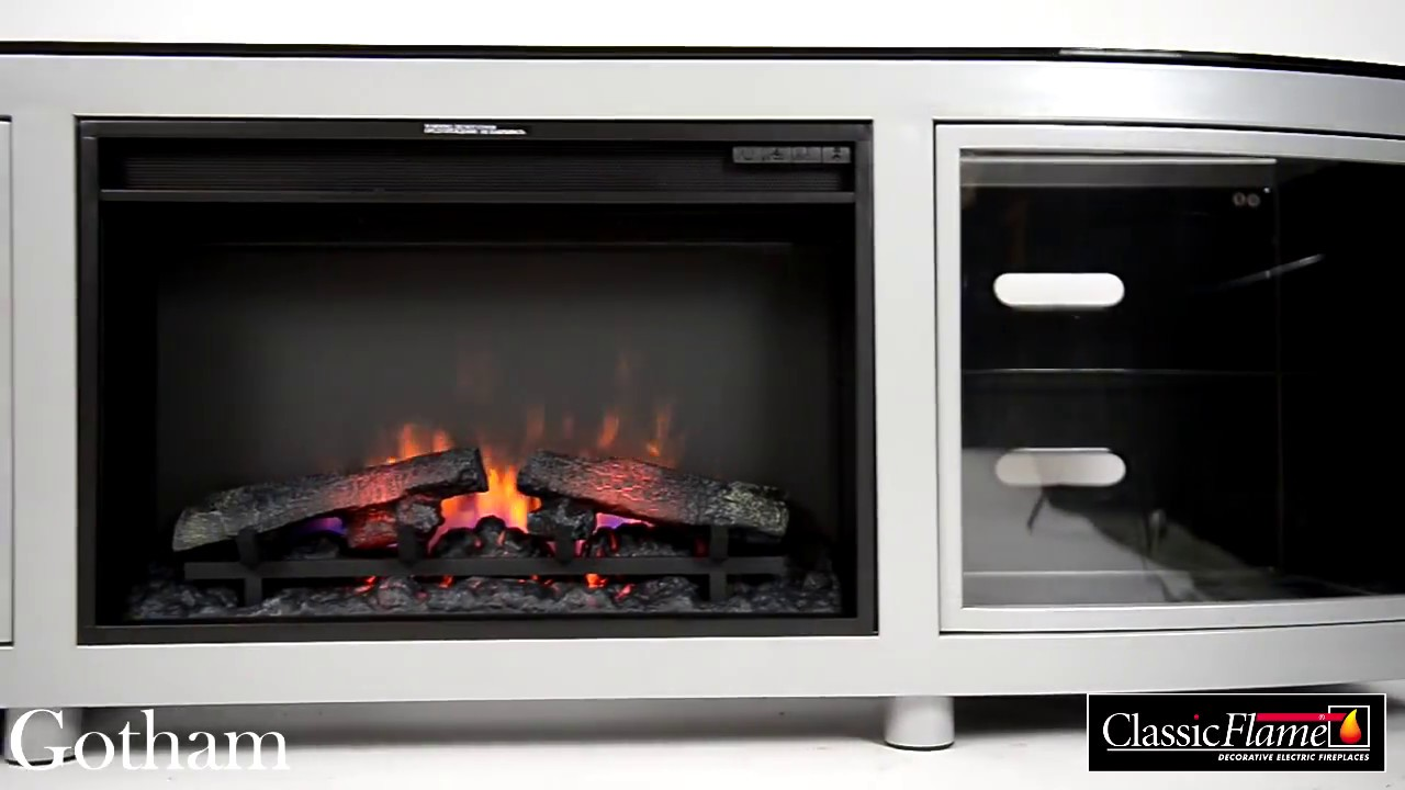 kominek elektryczny led classic flame gotham youtube