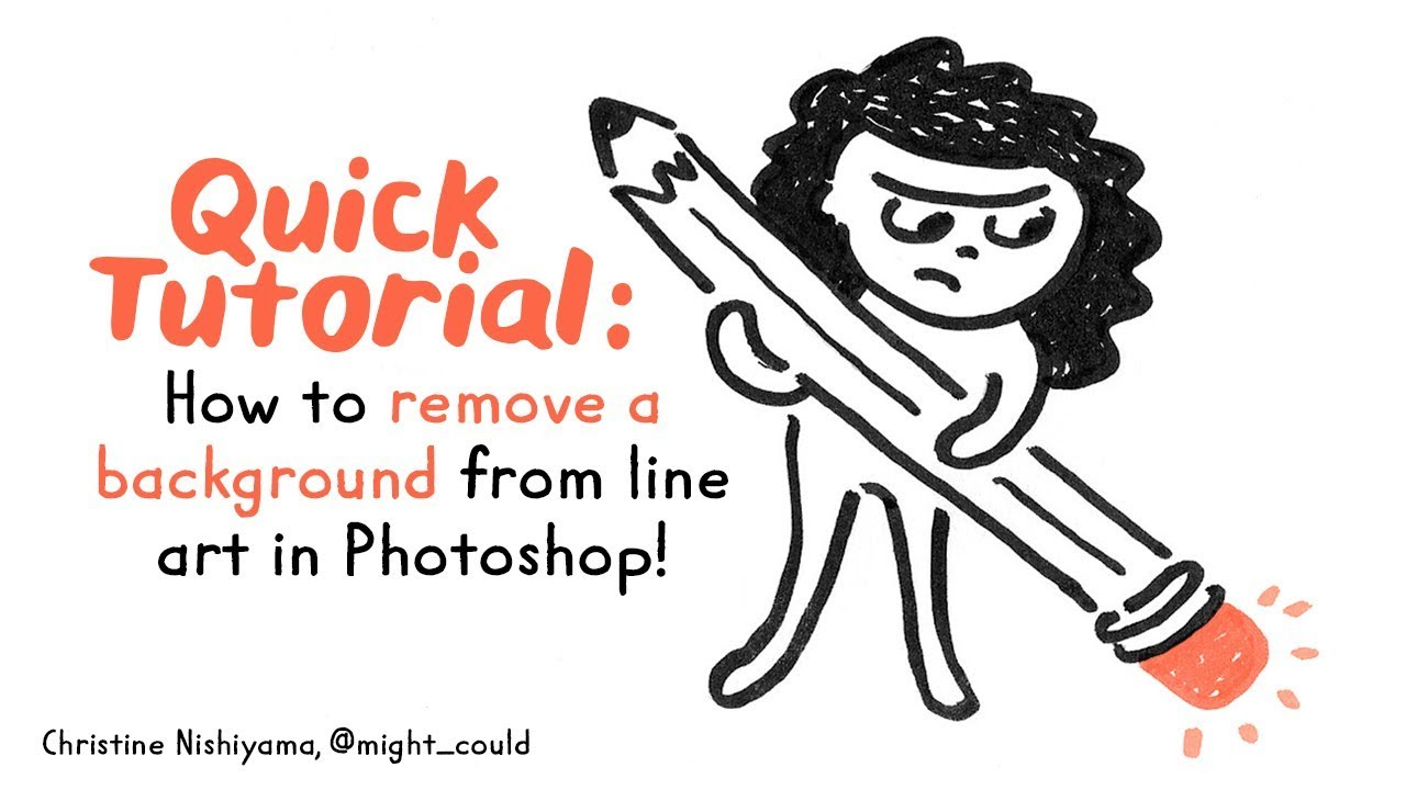 Quick tutorial how to remove a background from line art in