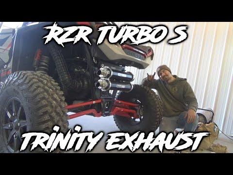 polaris rzr turbo s trinity exhaust tune install and sound comparisons