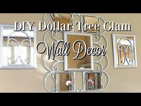DIY Dollar Tree Glam Mirror Wall Decor | Just under $10 Home Decor