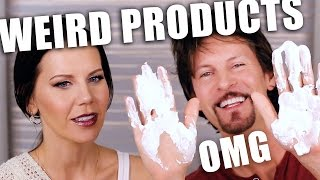 TESTING WEIRD BEAUTY PRODUCTS ... OMG