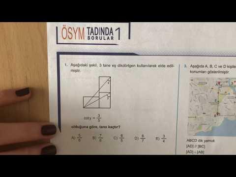 345 AYT Matematik Trigonometri-II Ösym Tadında-1 Anlatımlı Çözümleri (2018-2019 basım)