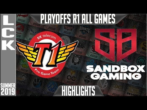 SKT vs SB Highlights ALL GAMES | LCK Summer 2019 Playoffs Round 1 | SK Telecom T1 vs Sandbox Gaming