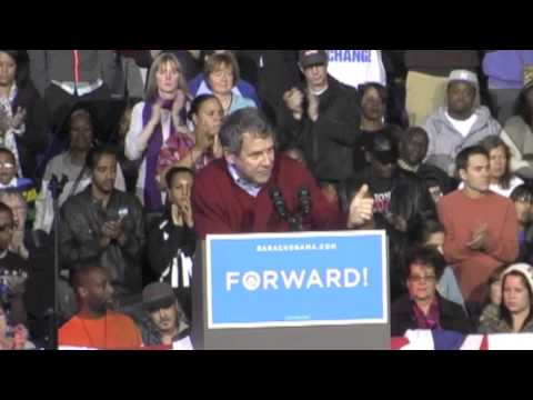 Sherrod Brown at Obama Rally