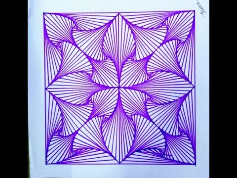 how to draw a geometric design by ink pen - YouTube
