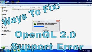 ♠ How-To: Fix The OpenGL 2.0 Support Error For Windows XP, Vista, 7, 8, Linux, & Mac ♠