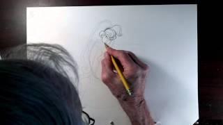 Princess Daphne Time-Lapse Drawing