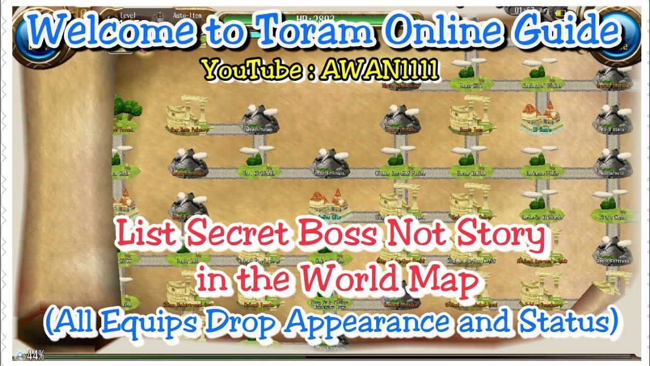 toram online world map Toram Online Guide List Hidden Boss In The World Map All