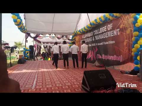 Allahabad college of engineering and management group dance in Annual function 2018