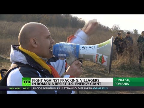 Fight against Fracking: Romania villagers resist US energy giant Chevron