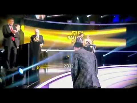 Ronaldo Reacting To Messi Winning The Ballon D'or (2012)