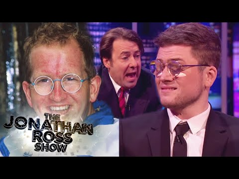 Taron Egerton Shows The Eddie 'The Eagle' Look - The Jonathan Ross Show