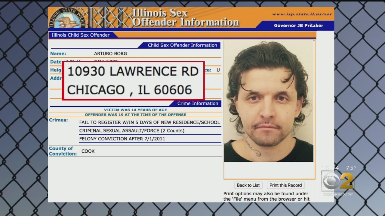 Illinois Sex Offender Registry Full Of Bogus Addresses