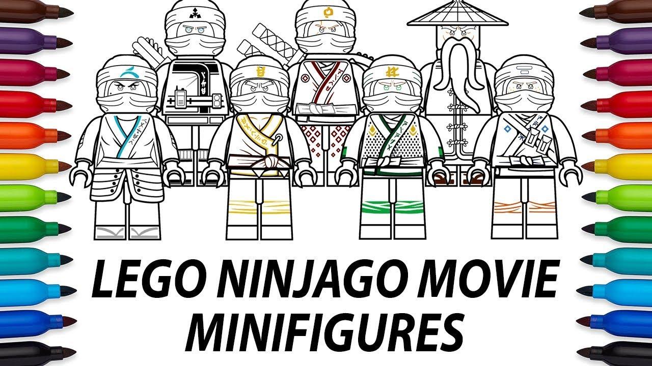 How To Draw Lego Ninjago Movie Minifigures Compilation